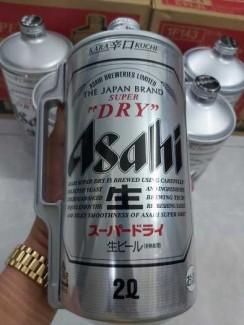Bia Asahi Bom 2L,Nhập Khẩu Nhật Bản