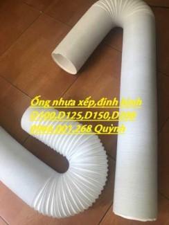 Ống nhựa xếp , ống định hình mầu trắng gia cố lõi thép phi 100,phi 125,phi 150,phi 200