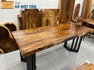 Mặt bàn gỗ me tây dùng cho bàn làm việc hoặc bàn ăn