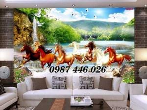Gạch tranh 3d phòng khách HP592