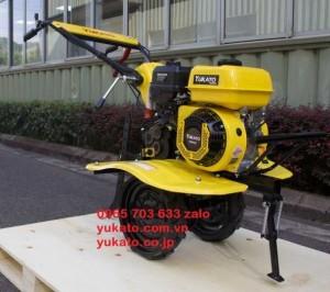 Máy xới đất đa năng Yukato BS800 màu vàng đẹp mắt, chất lượng tiêu chuẩn Nhật Bản.