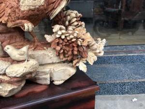 Tượng gỗ Gia đình kê _ Mỹ nghệ Âu Lạc
