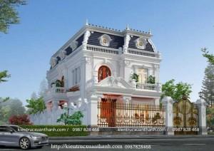 Thiết kế biệt thự 2 tầng tân cổ điển đẹp BT18229