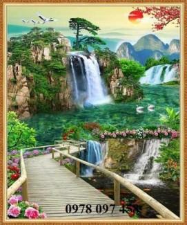 Tranh gạch - tranh thiên nhiên đẹp