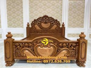 Giường Ngủ Cổ Điển Siêu VIP Liền Tấm Hoàng Gia Giá Rẻ