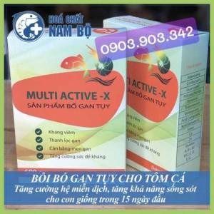 Multi Active-X Nguyên Liệu Bổ Trợ Gan Tuỵ Cho Tôm Trong Thuỷ Sản