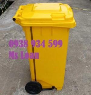 Thùng rác đạp chân 120 lít nhựa hpde