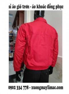 Sỉ áo khoác gió trơn màu đỏ