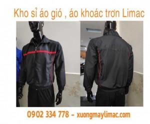 Bán Phôi Áo khoác Gió màu đen trơn dùng  In Chuyển Nhiệt