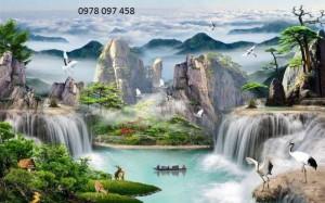 Tranh gạch phong cảnh- tranh 3d
