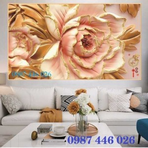 Gạch 3d, tranh hoa ốp tường HP591