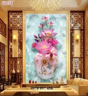 Gạch tranh 3D - tranh bình hoa
