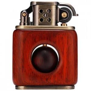 Bật lửa xăng đá vỏ gỗ Zorro Z506-598
