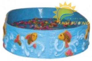 Chuyên bán hồ câu cá hình tròn cho khu vui chơi, công viên, trường mầm non, TTTM