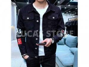 Áo khoác jeans nam mặt trước sau số 8 2m