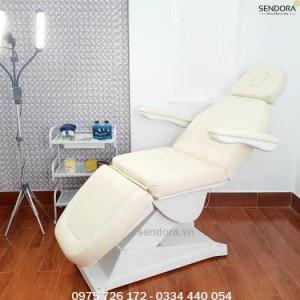 Giường ghế thẩm mỹ chỉnh điện B040-1 – Màu kem
