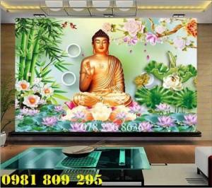 Gạch tranh 3d - tranh gạch Đúc Phật cây bồ đề