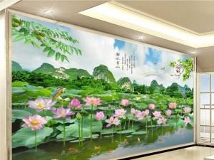 Tranh hoa sen - tranh gạch cao cấp
