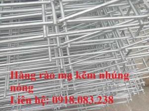 Hàng rào lưới thép gập đầu D5a 50x100, 50x150,... mạ kẽm nhúng nóng