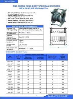 Ống chống rung bơm tuần hoàn dầu nóng nhà sản xuất Dân Đạt
