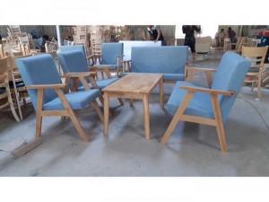 Bàn ghế sofa nệm gỗ giá xưởng