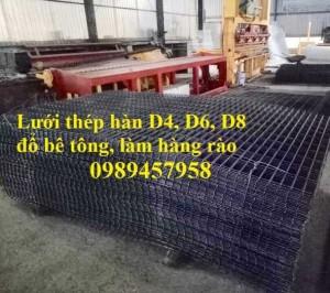Lưới thép chống thấm phi 3, phi 4, Lưới chống nứt sàn, Lưới đổ bê tông phi 3 ô 200x200, 250x250