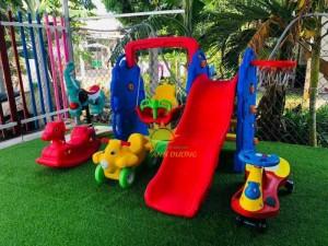 Cầu trượt trẻ em bằng nhựa cho trường mầm non, khu vui chơi, gia đình