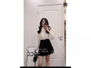 Áo kiểu nữ ren trắng tiểu thư Quảng Châu