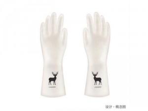Găng tay cao su siêu dai hình hươu