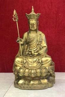 Tượng Phật địa tạng bằng đồng nguyên khối