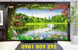 Tranh gạch phong cảnh - gạch tranh 3d ốp tường phòng khách