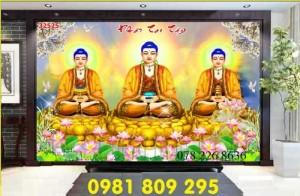 Gạch tranh - tranh hình Đức phật - tranh gạch ốp đền chùa