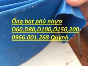 Báo giá ống vải bạt cốt dù, ống bạt xanh xả nước D60,D80,D100,D120,D150