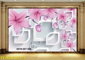Tranh hoa 3D - tranh gạch men 3D