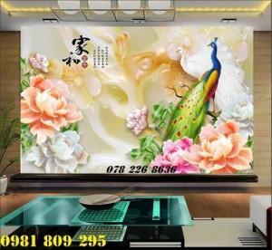 2020-10-28 15:55:15  4  Tranh gạch 3d hoa mẫu đơn - tranh gạch men chim công sứ ngọc 1,200,000