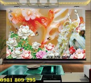 2020-10-28 15:55:15  1  Tranh gạch 3d hoa mẫu đơn - tranh gạch men chim công sứ ngọc 1,200,000