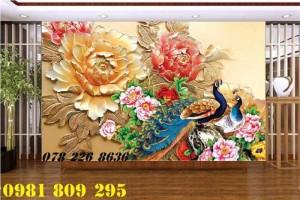 2020-10-28 15:55:15  2  Tranh gạch 3d hoa mẫu đơn - tranh gạch men chim công sứ ngọc 1,200,000
