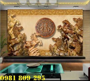 2020-10-28 15:57:45  5  Gạch tranh 3d - tranh gạch men bát mã , tranh ngựa 1,200,000