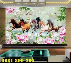 2020-10-28 15:57:45 Gạch tranh 3d - tranh gạch men bát mã , tranh ngựa 1,200,000