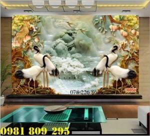 2020-10-28 16:09:14  3  Tranh gạch 3d tùng hạc ngênh khách - gạch tranh sứ ngọc 1,200,000