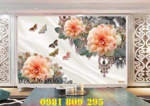 2020-10-28 16:12:01  4  Gạch tranh 3d hoa ngọc trang trí - tranh 3d ốp tường phòng ngủ 1,200,000