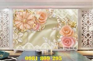 2020-10-28 16:12:01 Gạch tranh 3d hoa ngọc trang trí - tranh 3d ốp tường phòng ngủ 1,200,000