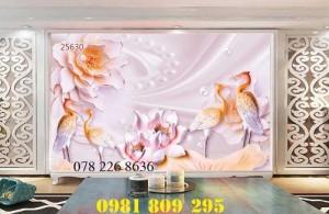 2020-10-28 16:12:01  3  Gạch tranh 3d hoa ngọc trang trí - tranh 3d ốp tường phòng ngủ 1,200,000