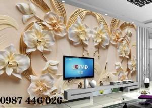 Tranh 3d, tranh ốp tường, tranh gạch men phòng khách