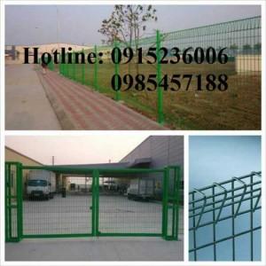 Hàng rào cột trái đào sơn tĩnh điện phi 5 ô 50x150, 50x200 tại Hà Nội