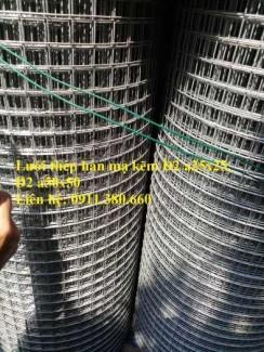 Lưới thép hàn D2 hàng mạ, ô 25x25, ô 50x50 dạng cuộn