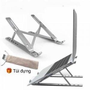 [BanSi] Giá Đỡ Laptop 2in1 Nhôm Gấp Gọn, Chỉnh Độ Cao Giúp Tản Nhiệt Cho MACBOOK/IPAD SURFACE