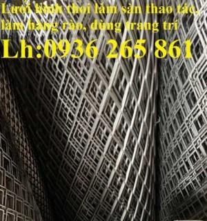 2020-10-30 14:25:20 Lưới thép dập giãn làm cầu thang, lan can, hành lang, sàn thao tác giá rẻ 20,000