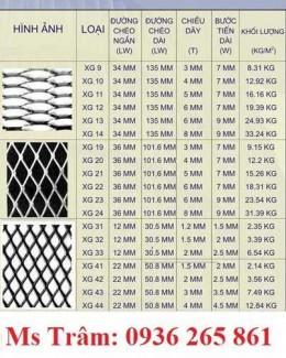 2020-10-30 14:52:29  4  Lưới dập giãn XG - XS dùng trong xây dựng, trang trí nội thất, làm hành lang, hàng rào giá rẻ 25,000