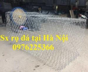 Rọ đá mạ kẽm 2x1x0,5m, 2x1x1m có sẵn hàng tại Hà Nội